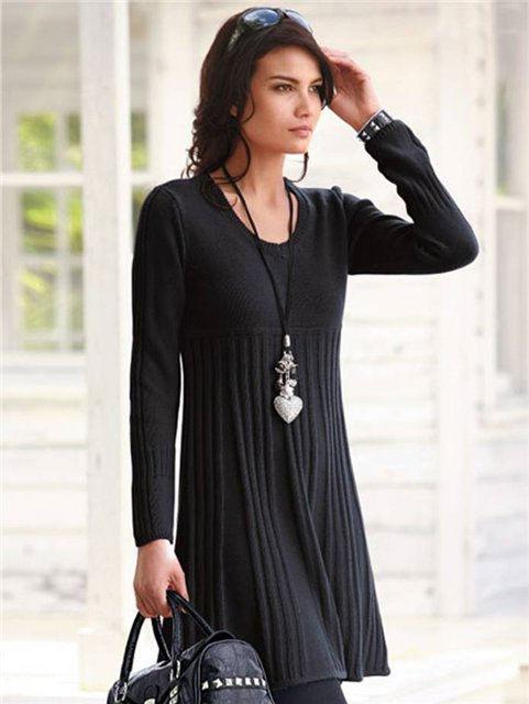Вязаное платье спицами - схемы - Вязаное платье