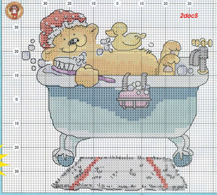 Схемы для Ванной и Туалета.  Marija. mishka.rar.  Схема вышивка крестом.  Добавлено: 11 сентября, 12:45.