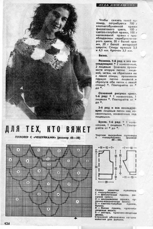Вязание из старых журналов с описанием 63