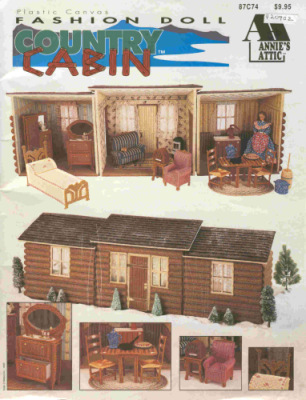 Кукольный дом для Бабри своими руками. Вышивка по пластиковой канве