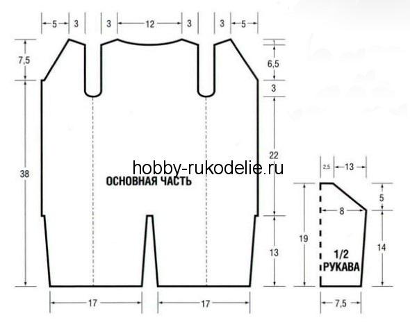 вязаный комбинезон от 0-1 схема. схемы вязания комбинезонов для.
