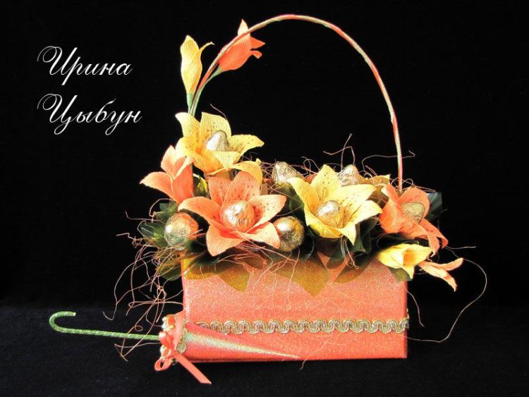 Букет цветов из конфет своими руками мастер класс