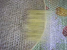 Следующие два слоя будут желтые. Выкладываем их так же: горизонтально один слой, второй вертикально.