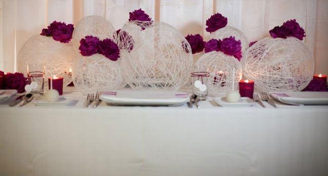 Украшения на стол на свадьбу своими руками