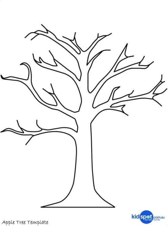 Дерево из бумаги шаблон