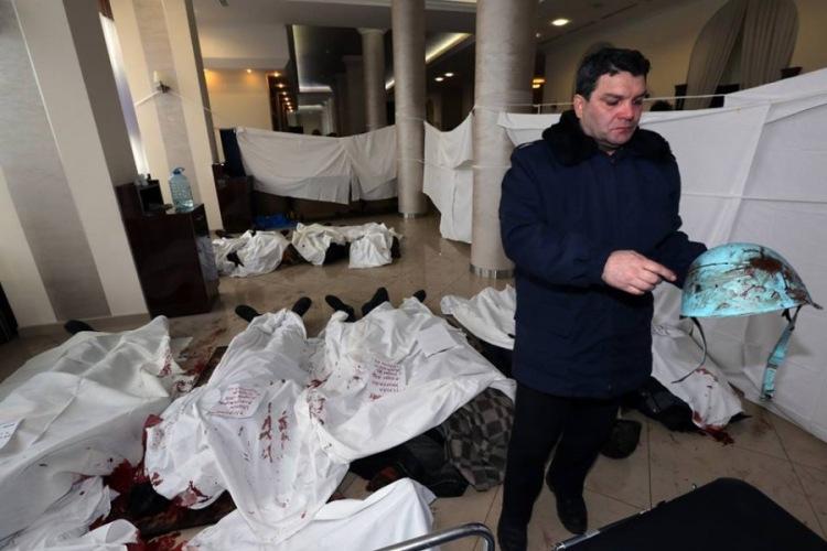 Появилось шокирующее видео из медпункта в отеле ''Украина'&#