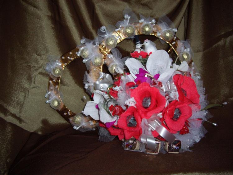 Букет из конфет невесты своими руками 64