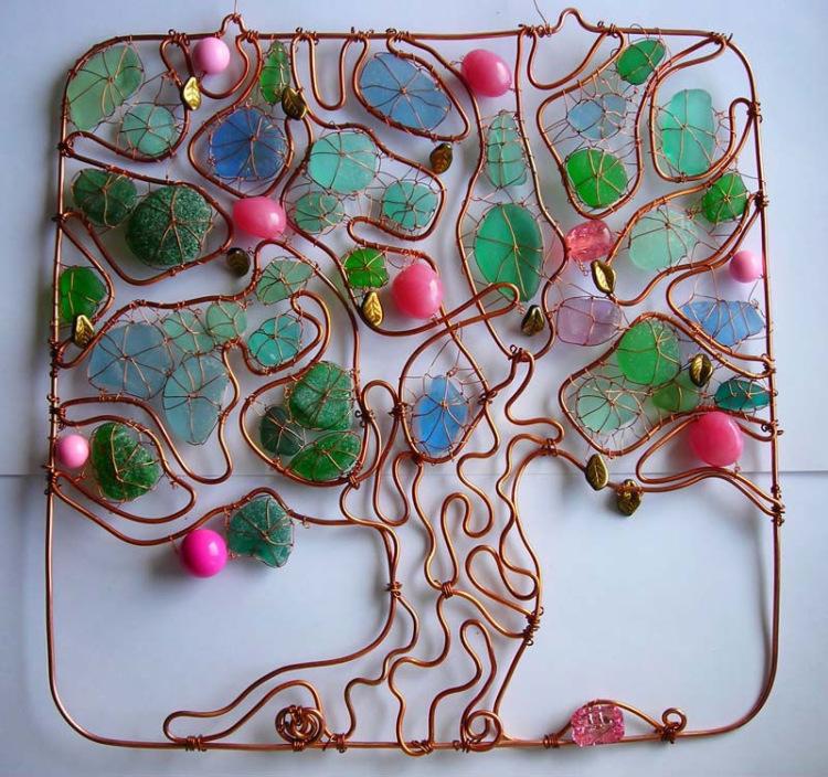Дерево из медной проволоки